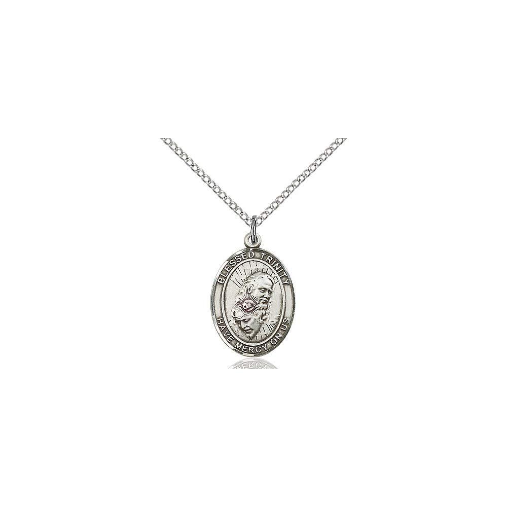 DiamondJewelryNY Sterling Silver Blessed Trinity Pendant