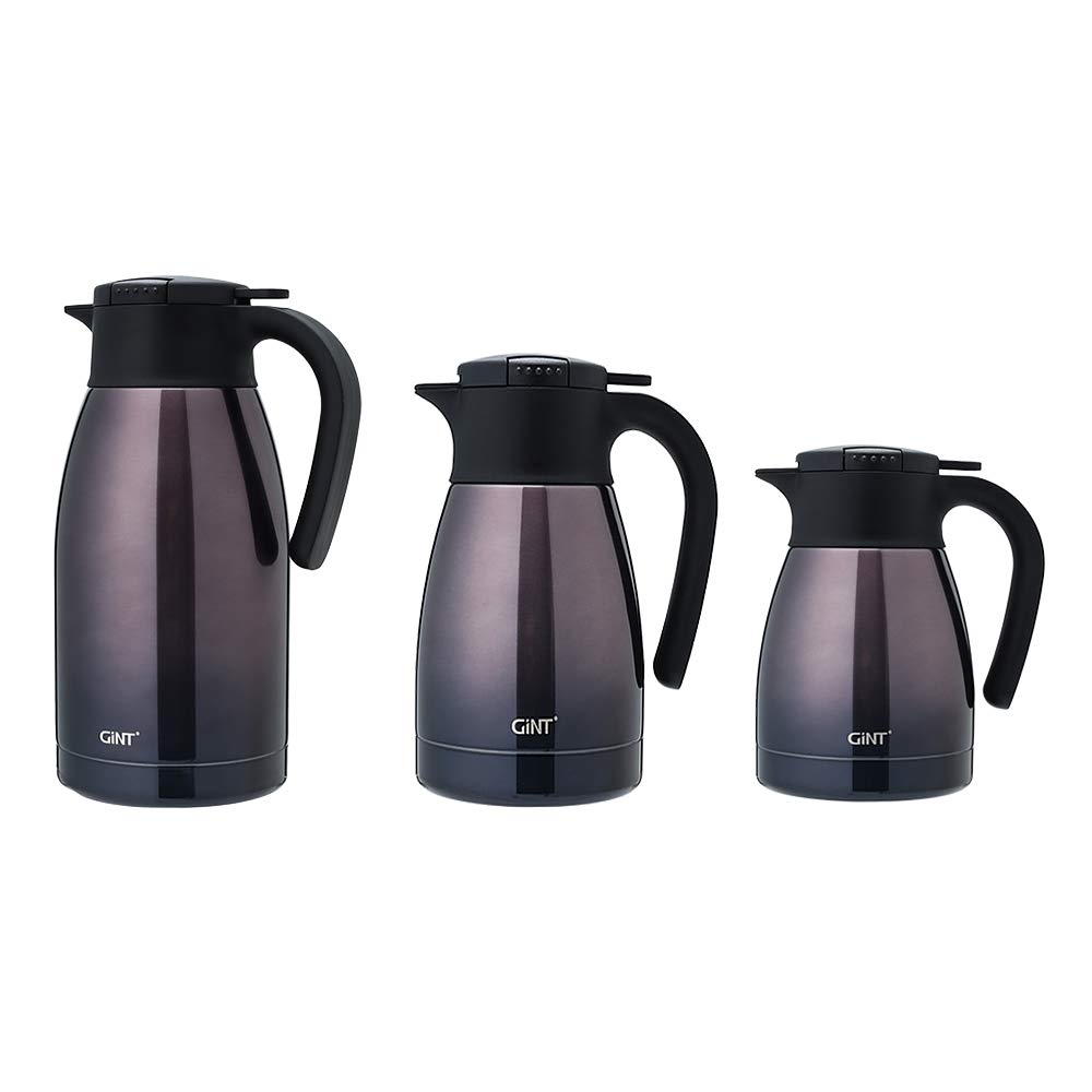 GiNT Stainless Steel Thermal Coffee Carafe with Lid//Double Walled Vacuum Thermos 12 Hour Heat Retention-gradient,1.9L Purple