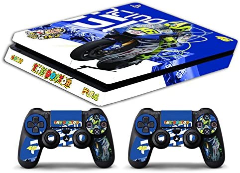 Skin PS4 SLIM HD - VALENTINO ROSSI THE DOCTOR 46 - limited edition DECAL COVER ADHESIVO playstation 4 SLIM SONY BUNDLE: Amazon.es: Videojuegos