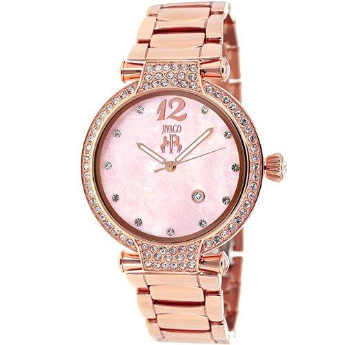 Jivago Women's JV2219 Bijoux Analog Display Swiss Quartz Rose Gold Watch