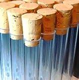 Lot de 10 tubes à essai avec bouchons en liège Transparent 150x 17mm
