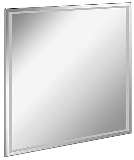 Specchio Bagno 80 X 70.Fackelmann Ampio Specchio Da Bagno A Led 80 X 70 Cm Amazon It
