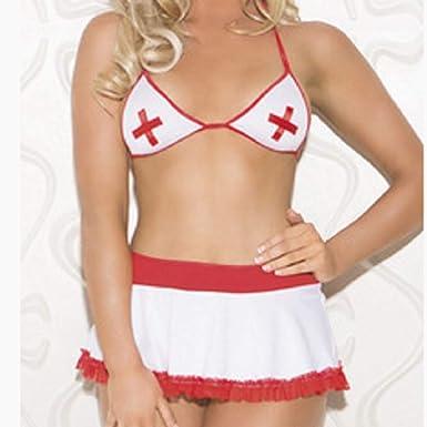 Amazon.com: FOXOME Sexy Lingerie Transparent Dew Point Nurse ...
