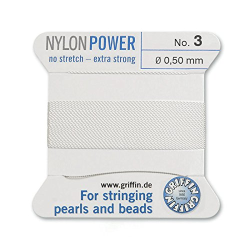 Griffin Bead Cord Nylon White #3