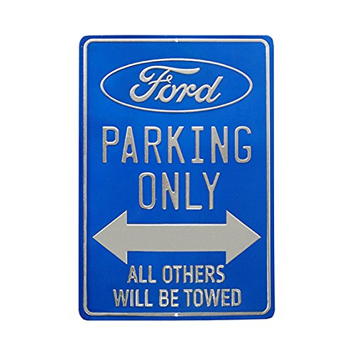 Open Road Brands 90153841 Metallic Tin Sign, Ford Parking Only (Ford Parking Sign)