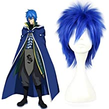 """Mcoser 14"""" Blue Short Straight Synthetic Hair- Fairy Tail Jellal Fernandes Cosplay Wigs"""