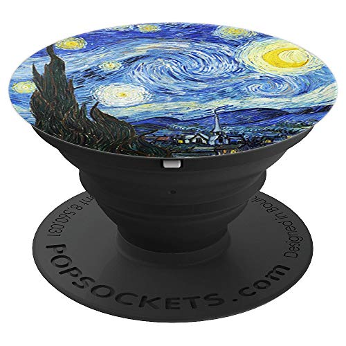 The Starry Night Painting Art Vincent Van Gogh Pop Mount - PopSockets Grip and Stand for Phones and Tablets