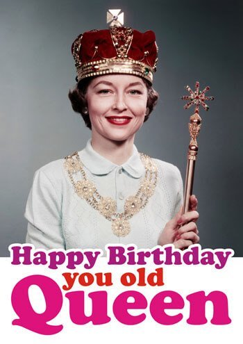 Amazon Happy Birthday You Old Queen Funny Birthday Card By Dean