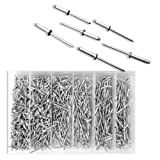 Pop Rivet Assortment | 1000pc Blind Aluminum 1/8 Hand & Air Riveters w/Storage