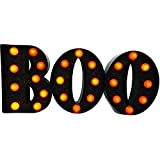 "Metal ""Boo"" with Lights Halloween Decoration"