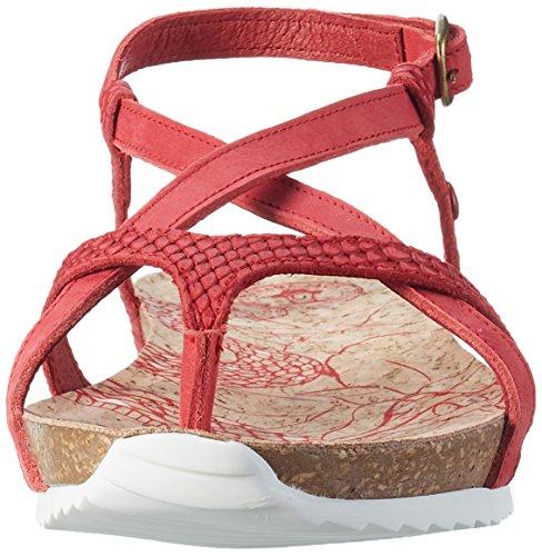 PANAMA JACK Damen Daria Snake Offene Sandalen mit Keilabsatz Rot (Red)