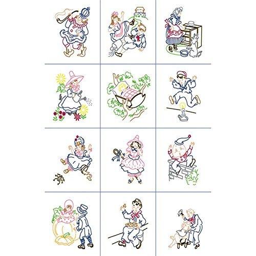Baby Stamped Quilt Blocks (Nursery Rhymes) - Package of 12