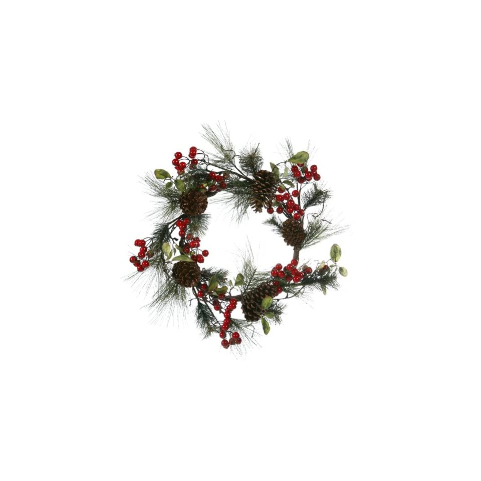 26 Red Berry Pine Cone Artificial Christmas Wreath