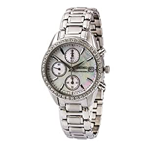 Seiko Women's SNDY21 Stainless Steel Analog with Mother-Of-Pearl Dial Watch
