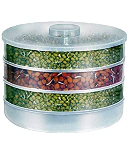 Darkline Plastic Sprout Maker Box with 4 Container (Standard Size)
