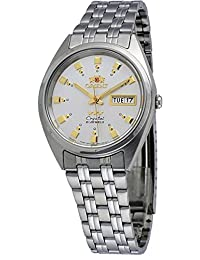 Orient #FAB00009W Men's 3 Star Stainless Steel Silver Dial Self Wind Automatic Watch