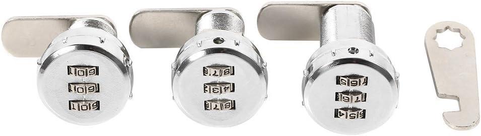 0.5~9mm Cerradura mec/ánica con c/ódigo de seguridad de 3 d/ígitos digital para armarios cajones o buzones