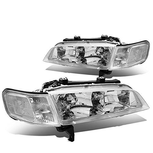 Honda Accord Rh Headlamp Light - DNA Motoring HL-OH-037-CH-CL1 Chrome Housing Clear Side Headlight [For 94-97 Honda Accord]