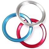 【生活向上の家】 BMW ハンドル ロゴ メッキ リング カバー F10 F20 F30 X3 X4 X5 3色カラー 社外品