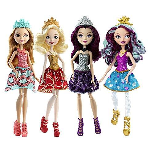Ever After High Dolls 4 Pack - Raven Queen, Apple White, Madeline Hatter, Ashlyn Ella -