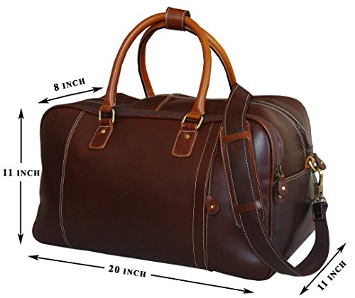 ZipperNext Grain Polished Leather Duffel product image