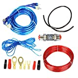 FLY RC 1500W Car Audio Subwoofer Amplifier Wiring Kit Fuse Holders Wire Cables Ground Wire