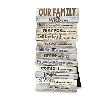 Lighthouse Christian Products Our Family Framed Print Wall Plaque by Lighthouse Christian Products