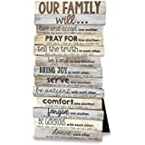 Lighthouse Christian Products Our Family Will Wall/Desktop Plaque, 5 x 10""