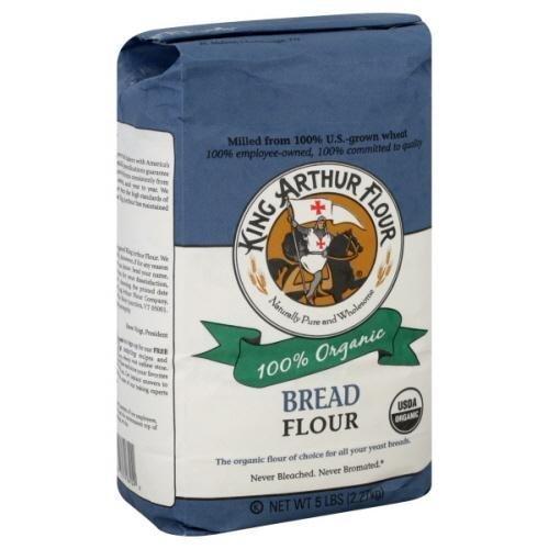 King Arthur 100% Organic Bread Flour 2 Lb (Pack of 4)
