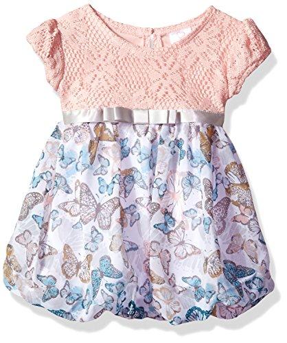 Print Bubble Hem Dress - 1
