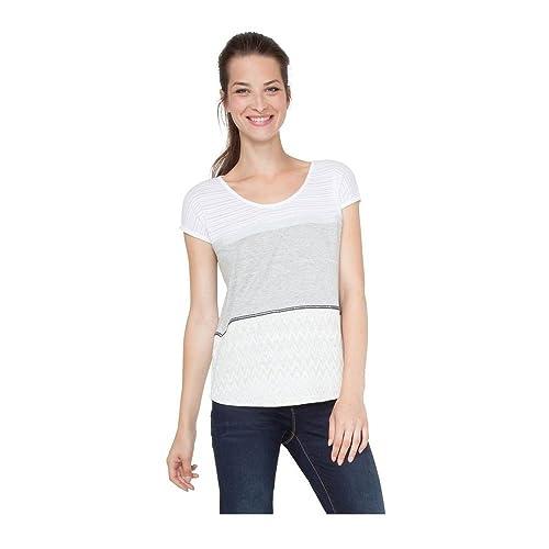 DESIGUAL ROMINESSA Tops y Camisetas Mujeres Gris Camisetas Manga Corta: Amazon.es: Zapatos y complementos