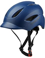 MOKFIRE Adult Bike Helmet That's Light, Cool & Sleek, Bicycle Cycling Helmet CPSC and CE Certified with Rear Light for Urban Commuter Adjustable Size for Adult Men/Women