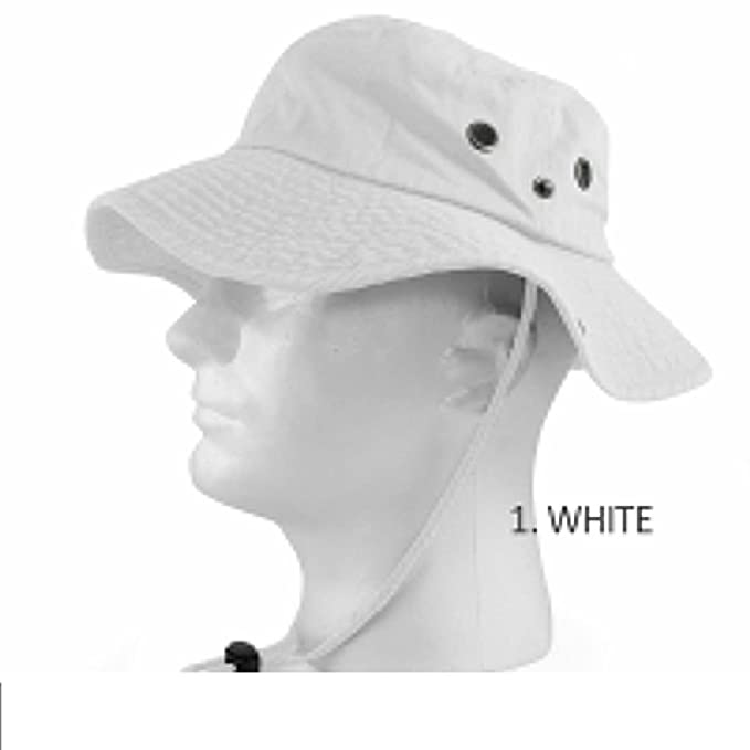 25d0dae1141559 100% COTTON SAFARI HATS BUCKET WIDE BRIM FISHING BUCKET CAP MENS ...