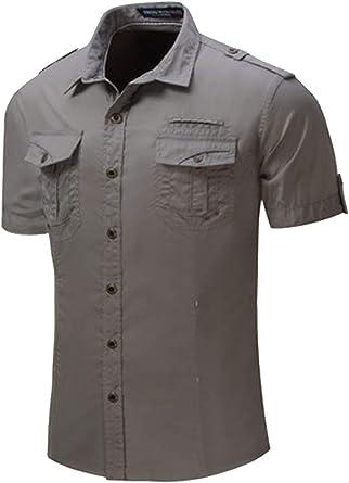 Camisa De Trabajo Militar Táctica De Manga Corta Casual De Verano para Hombre: Amazon.es: Ropa y accesorios