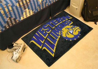 Illinois University Baseball Rug (Western Illinois University Starter Rug)