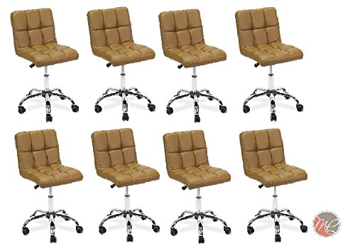 Madison & Park SET OF 8 Easy Glide Office Chair TTO CAPPUCCINO Desk Chair Task, Home, or Office Chair Office Furniture - Madison Office Furniture
