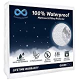 Everlasting Comfort 100% Waterproof Mattress Protector (Queen) and 2 Free Pillow Protectors