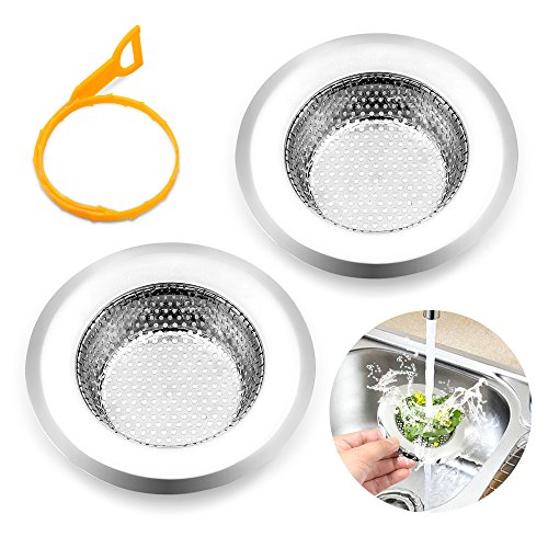 2 pieces kitchen sink drain strainers stainless steel for 2 kitchen sink drain