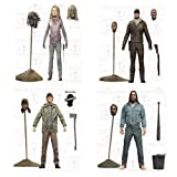The Walking Dead Comic Series 5 Negan, Glenn, Shane, Lydia Action Figures Set of 4