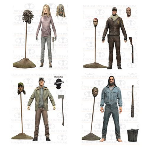 The Walking Dead Comic Series 5 Negan, Glenn, Shane, Lydia Action Figures Set of 4