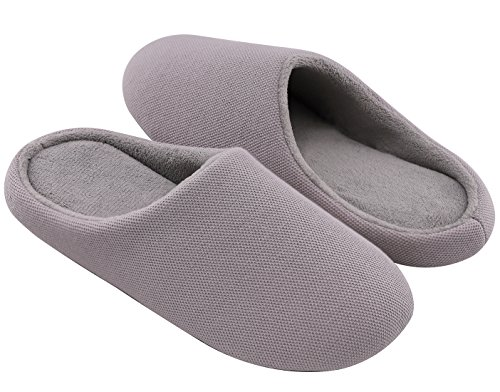 RockDove Women's Memory Foam Terry Dust-Proof Slippers, 11-12, - Terry Foam
