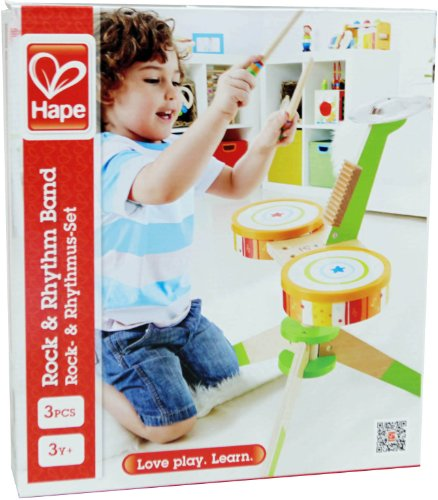 Hape-Rock-and-Rhythm-Kids-Musical-Instruments-Wooden-Drum-Set