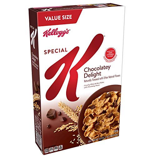 Kellogg's Special K, Breakfast Cereal, Chocolatey Delight, Value Size, 18.5oz Box ()