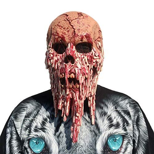 Casavidas Halloween Bloody Face Skull Mask Head Zombie