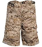 Trendy Apparel Shop Kid's US Soldier Digital Camouflage Tactical Shorts - Desert - L