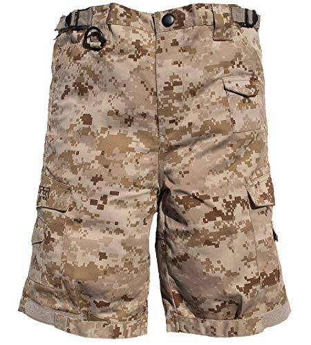 Trendy Apparel Shop Kid's US Soldier Digital Camouflage Tactical Shorts - Desert - S -