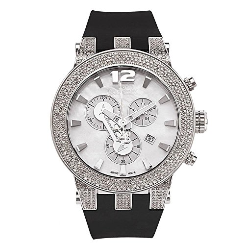 Joe Rodeo JRBR8 Broadway Diamond Watch, White Dial with Black Band by Joe Rodeo
