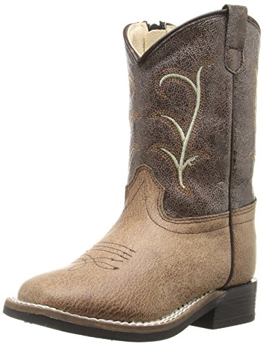 Old West Kids Boots Kids' Square Toe Vintage (Toddler), Tan, 6 M -