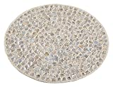 Saro LifeStyle 1180.I15R  Mother of Pearl Design Placemat , Ivory, 15'' (Set of 4 pcs)