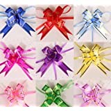 Christmas Gift Packing Pull Bow Ribbons Decorative Holiday Pull Flower Ribbons 10Pcs/Lot